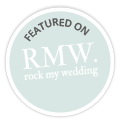 Featured on Rock My Wedding wedding Blog