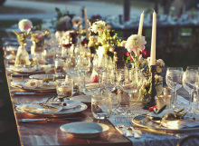 country chic table decor