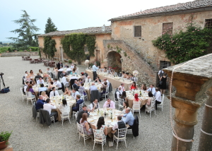 Wedding celebration Siena country estate