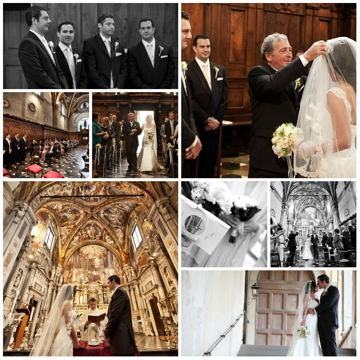 Wedding in Florence Monastery Church