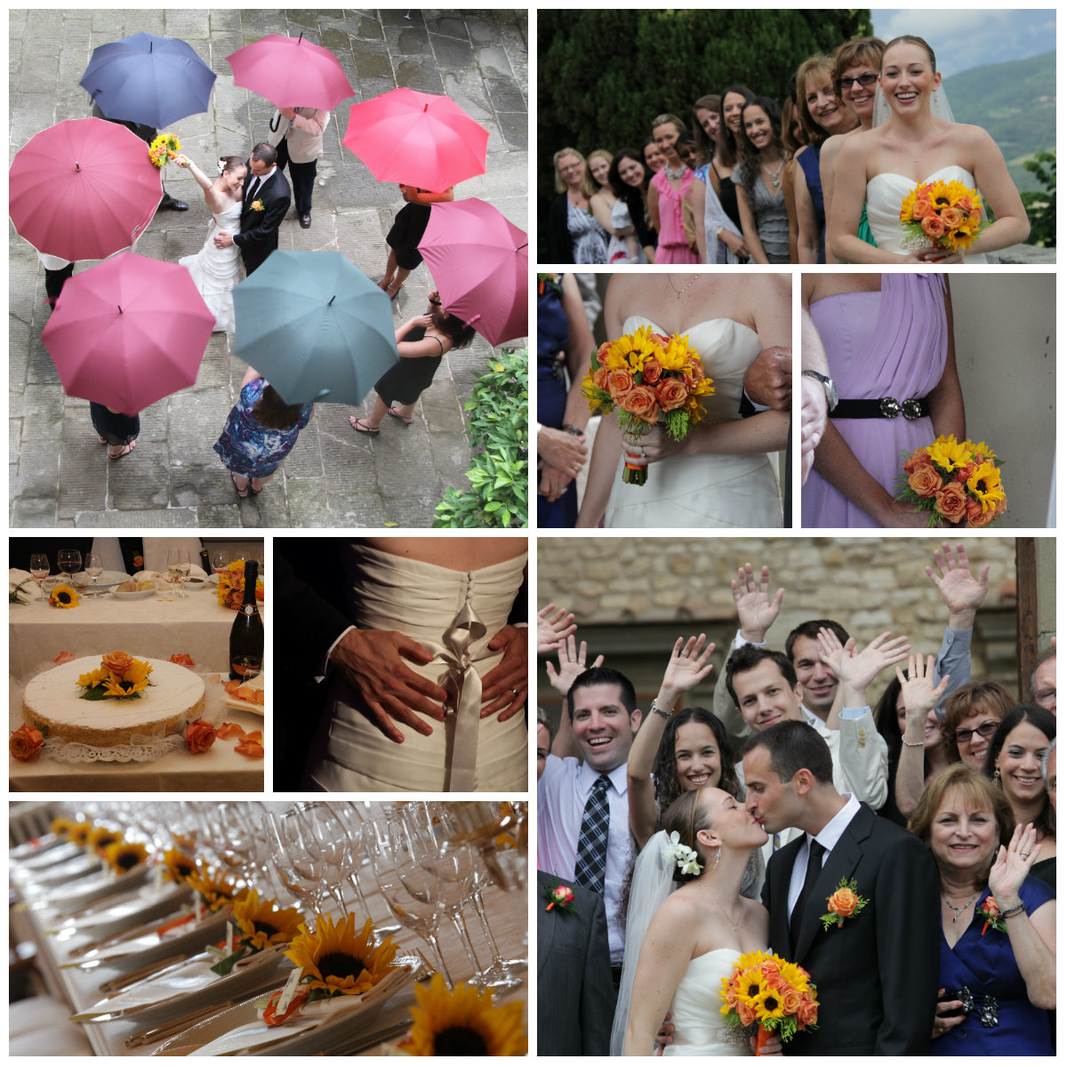 Castle wedding in June in Tuscany