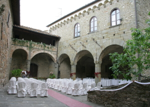 Medieval castle venue in Tuscany