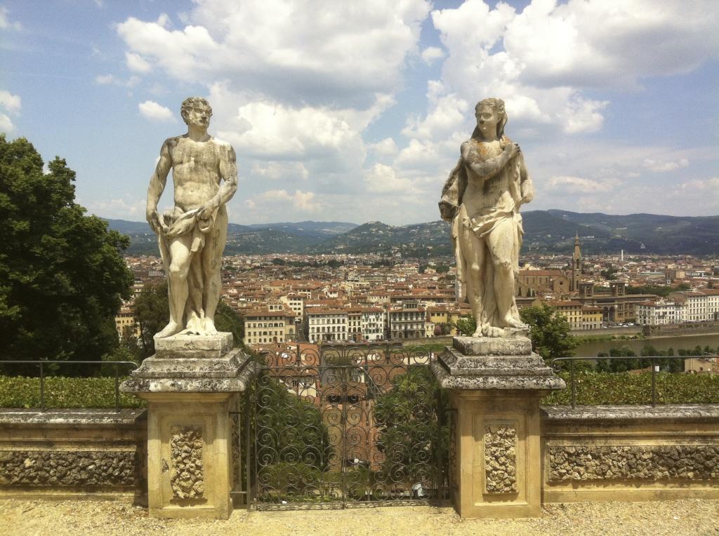 Romantic garden in Florence
