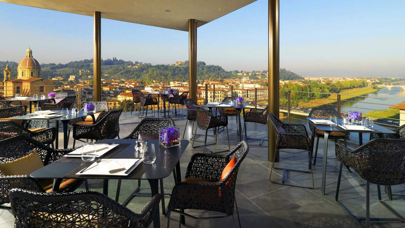 Panoramic view from Sesto roof terrace in Florence