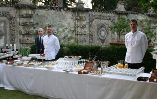 Wedding buffet in a Tuscan villa