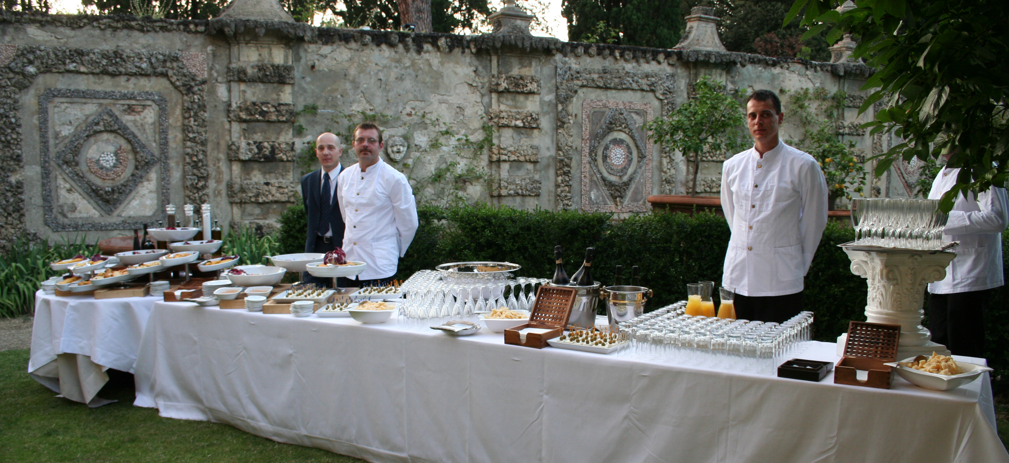 Wedding Buffet In A Tuscan Villa