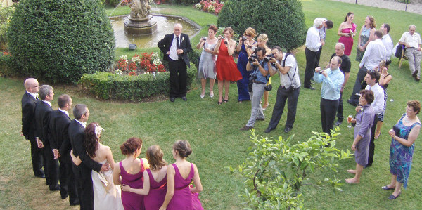 What to do during Wedding aperitifs