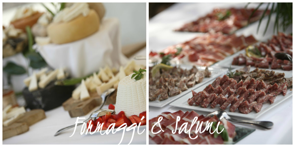 Tuscan cheese and ham buffet