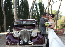 Beautiful Vintage wedding car