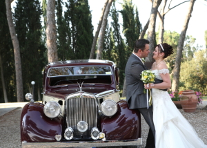 Beautiful Vintage wedding car