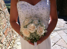 Classic Bridal Bouquet viroy roses and gypsophila