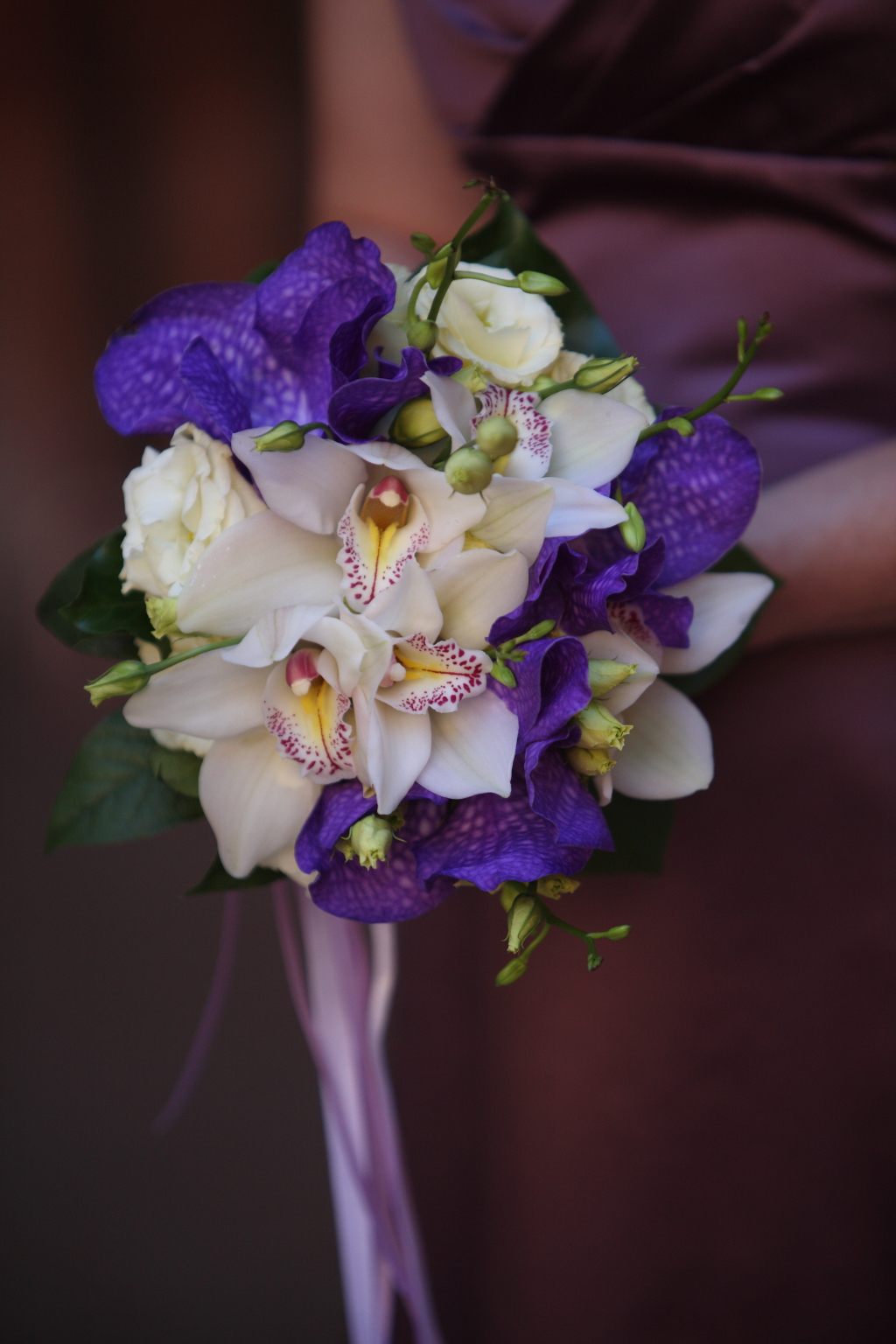 Purple Bridal Flower Bouquet