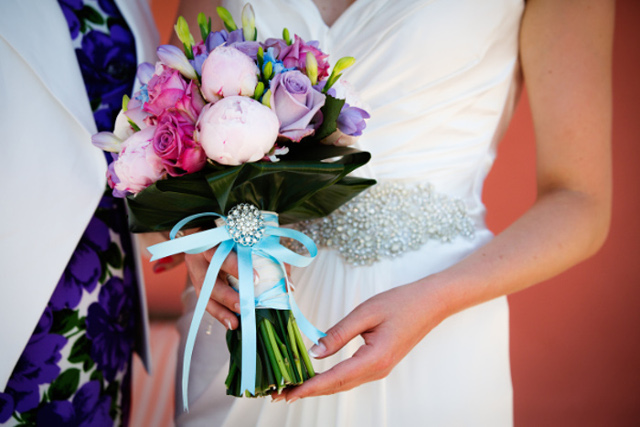 Bridal Bouquet with flower power