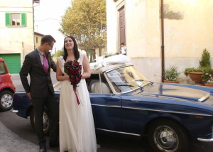 Fiat Spider Blue Wedding Car