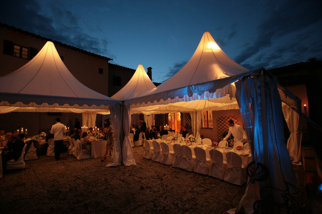 Wedding Marquee illuminated