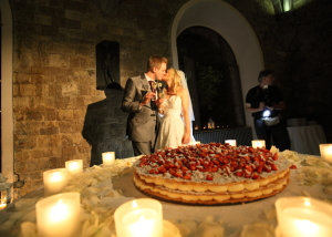 Millegoflie typical Tuscan wedding cake