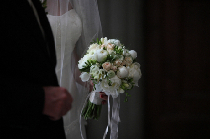 Ivory Peonies with dash of pink