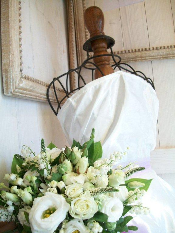 Fressia, sweet pea bouquet