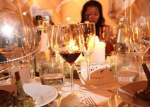 Tuscan wedding meal served