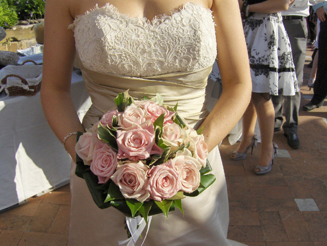 Pale Pink Rose Flower Bouquet