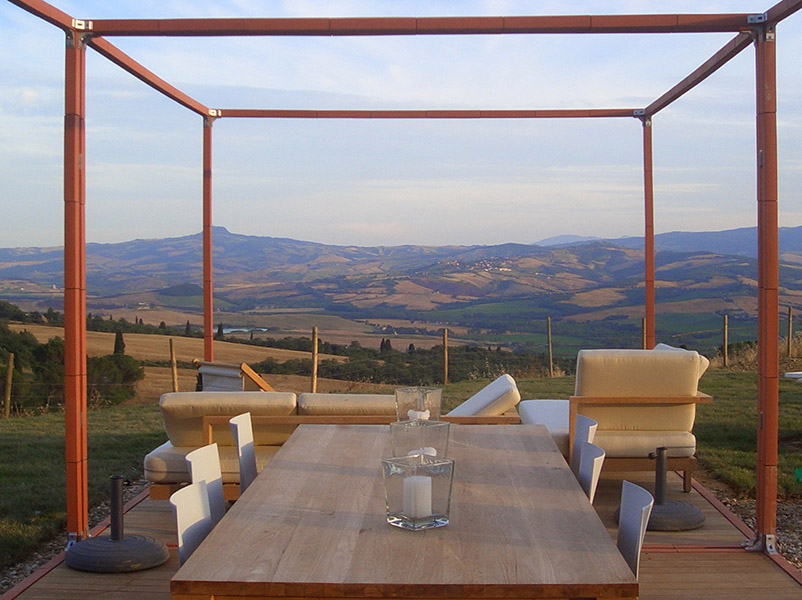 Stylish county house in Tuscany