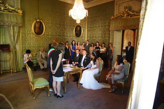 Lucca wedding ceremony