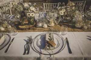 Pastel Floral table settings
