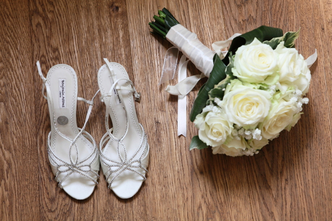 Classic ivory white bridal bouquet