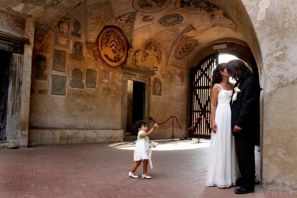 Wedding ceremony in Certaldo