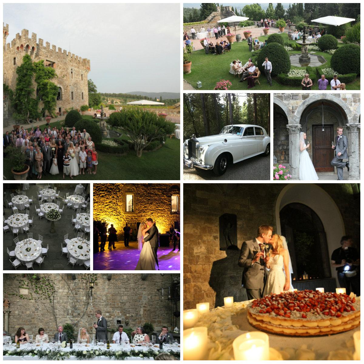 Wedding celebration in Florence
