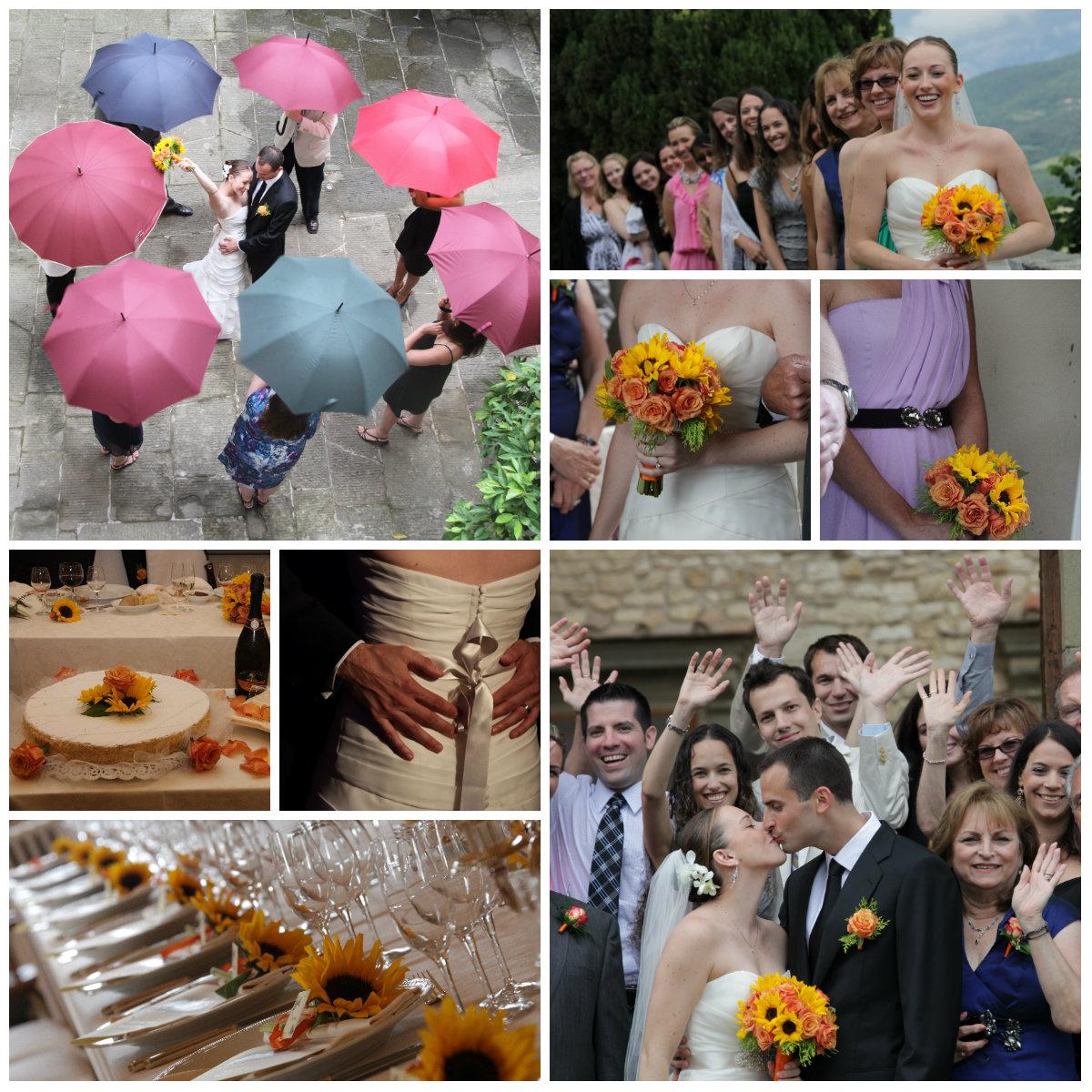 Intimate wedding in Chianti castle