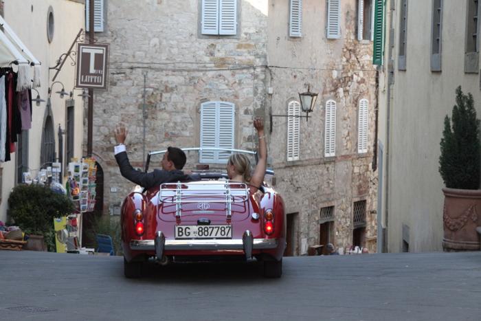 Wedding car in Chianti