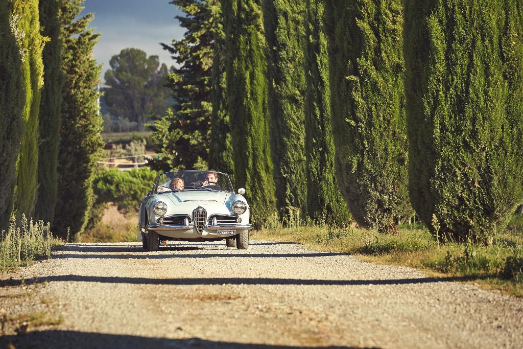 Alfa Romeo wedding vintage car