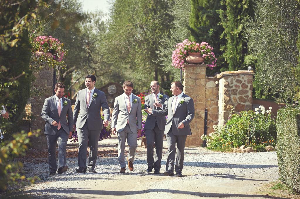 Boys getting ready for wedding