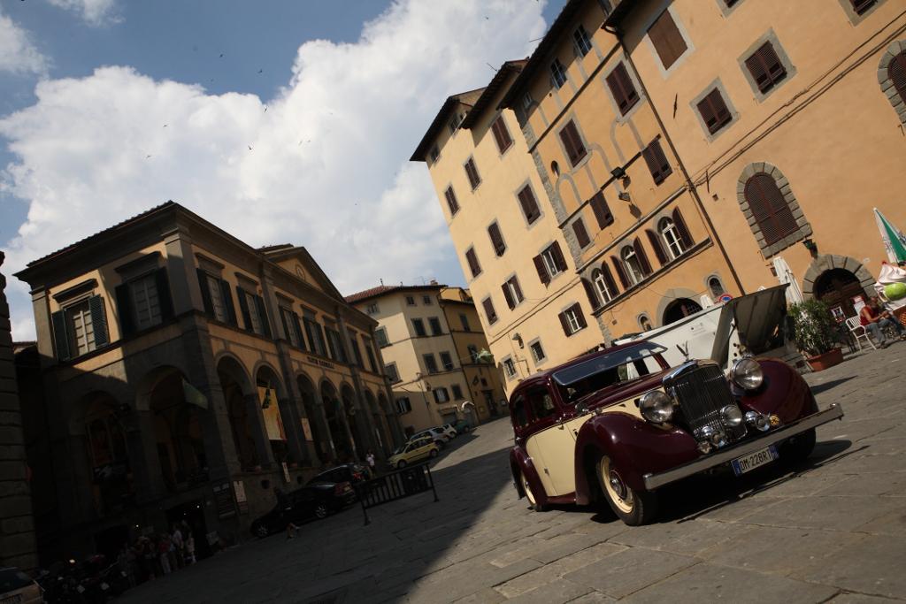 Burgundy vintage car