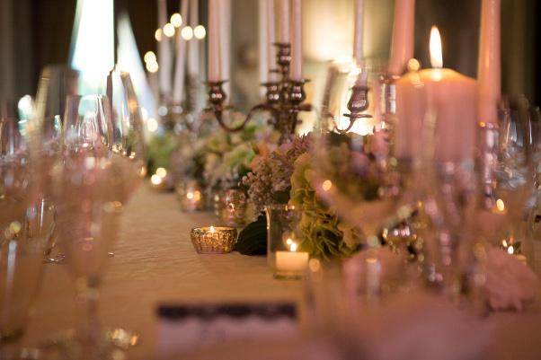 Wedding illumination with Candles