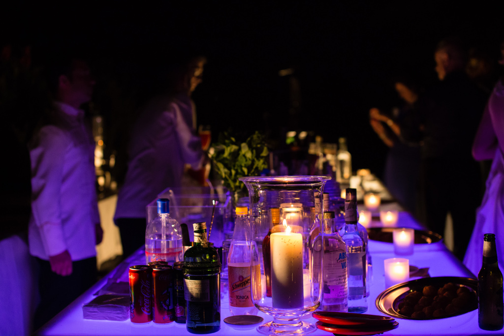 Wedding party Evening bar