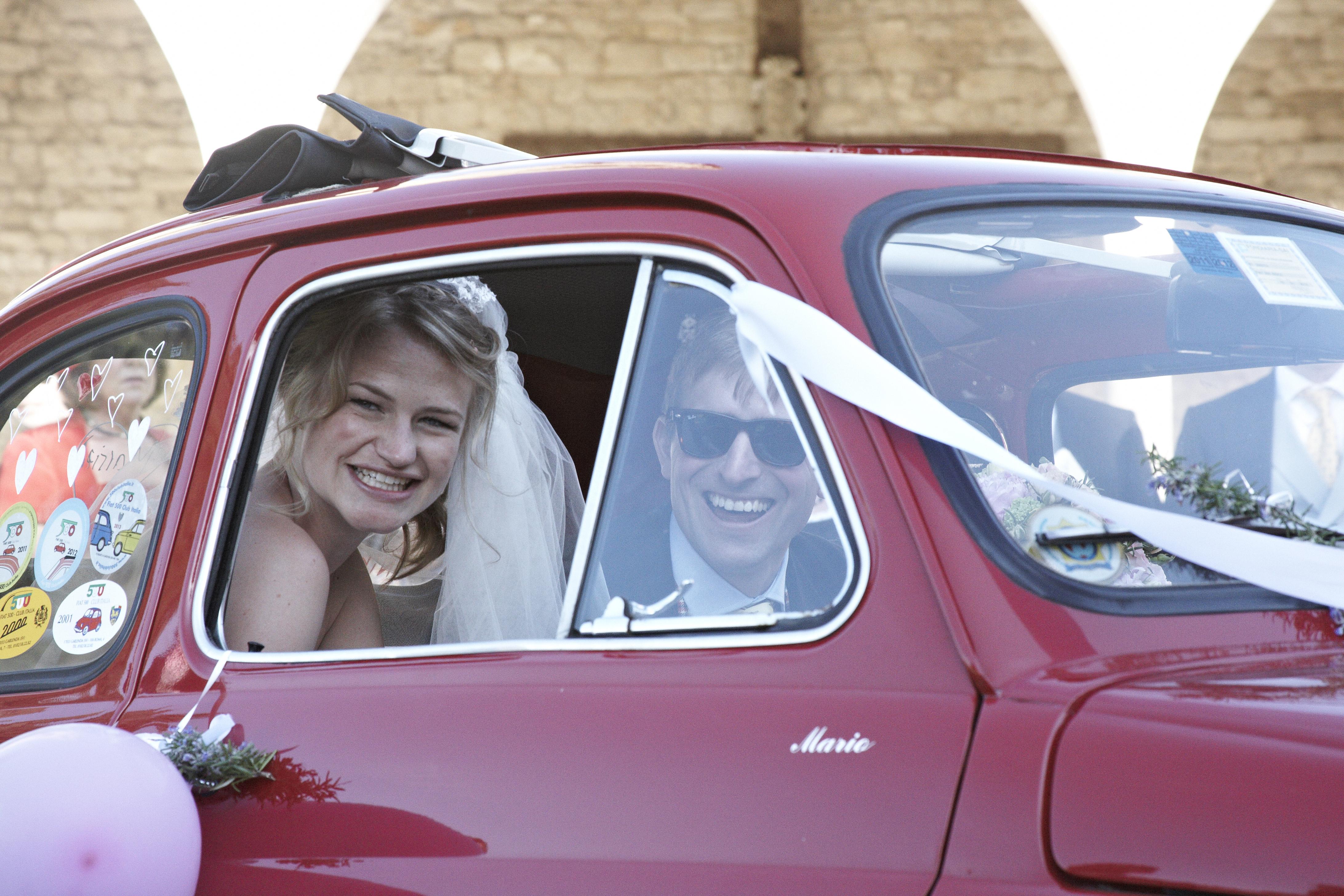 Vintage 500 Wedding Car