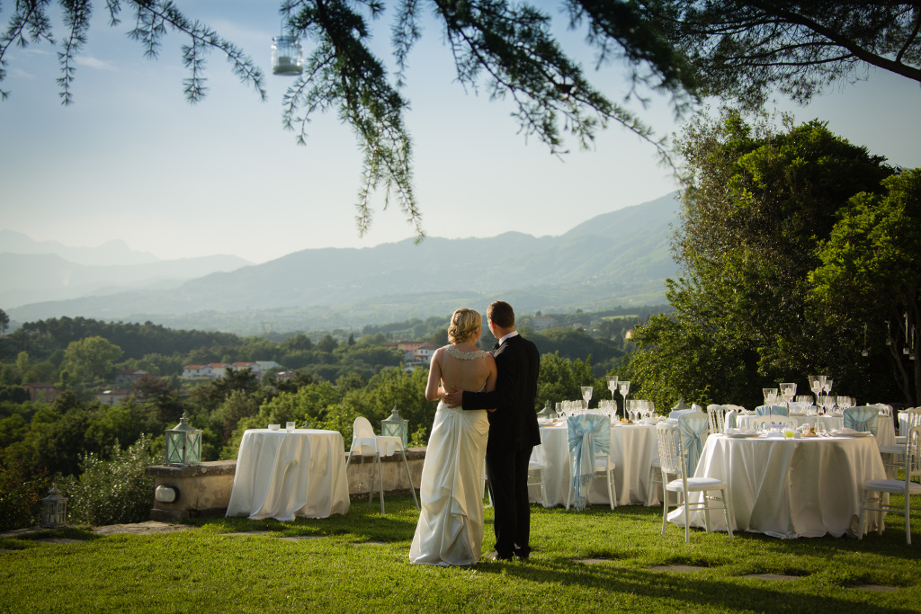Wedding villa terrace with view