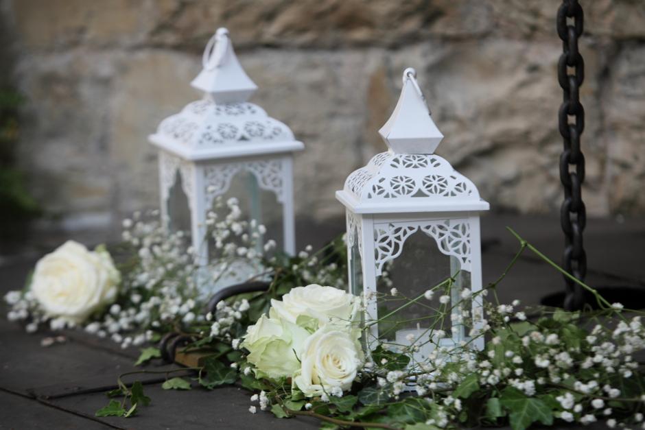 White wedding Lanterns