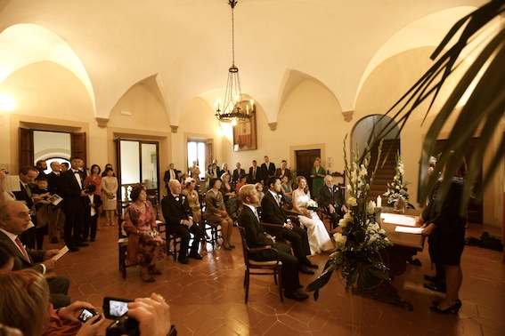 Ceremony at town hall in Tuscany