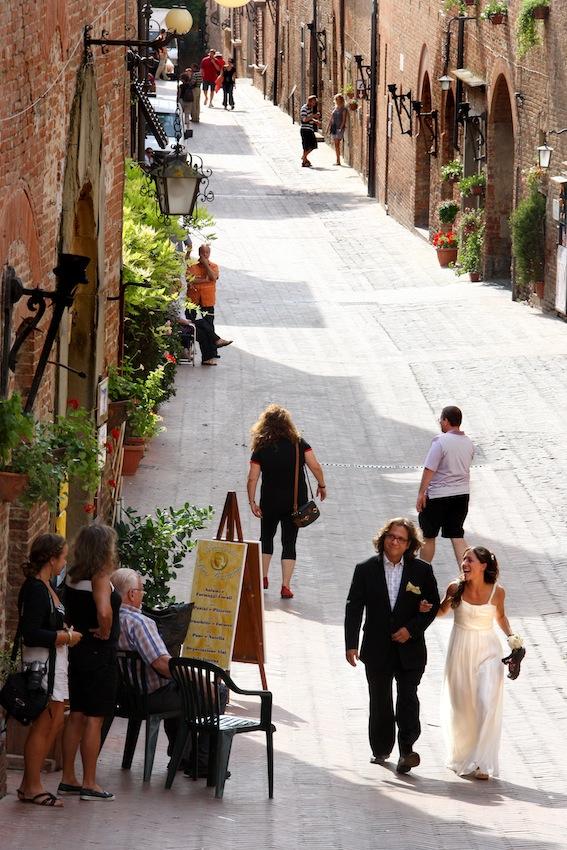 Wedding in a Tuscan village