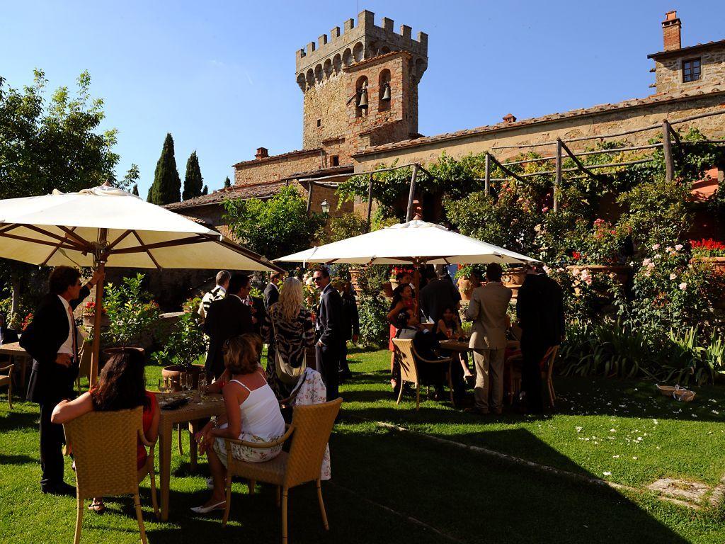 Wedding reception in castle