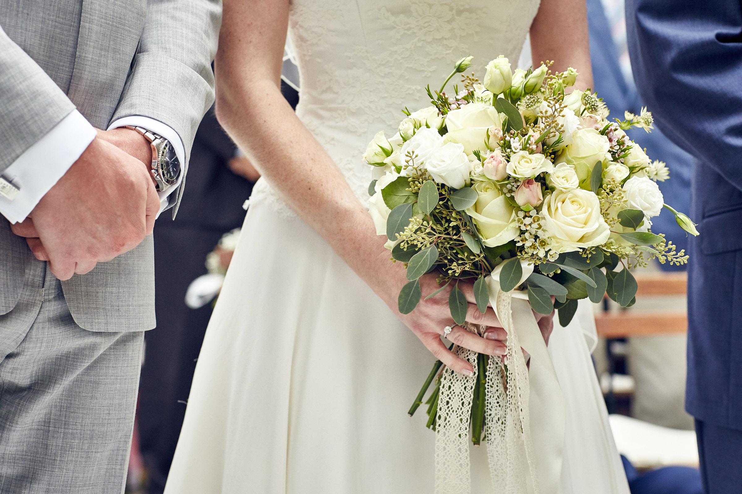 Natural autumn pink bridal bouquet