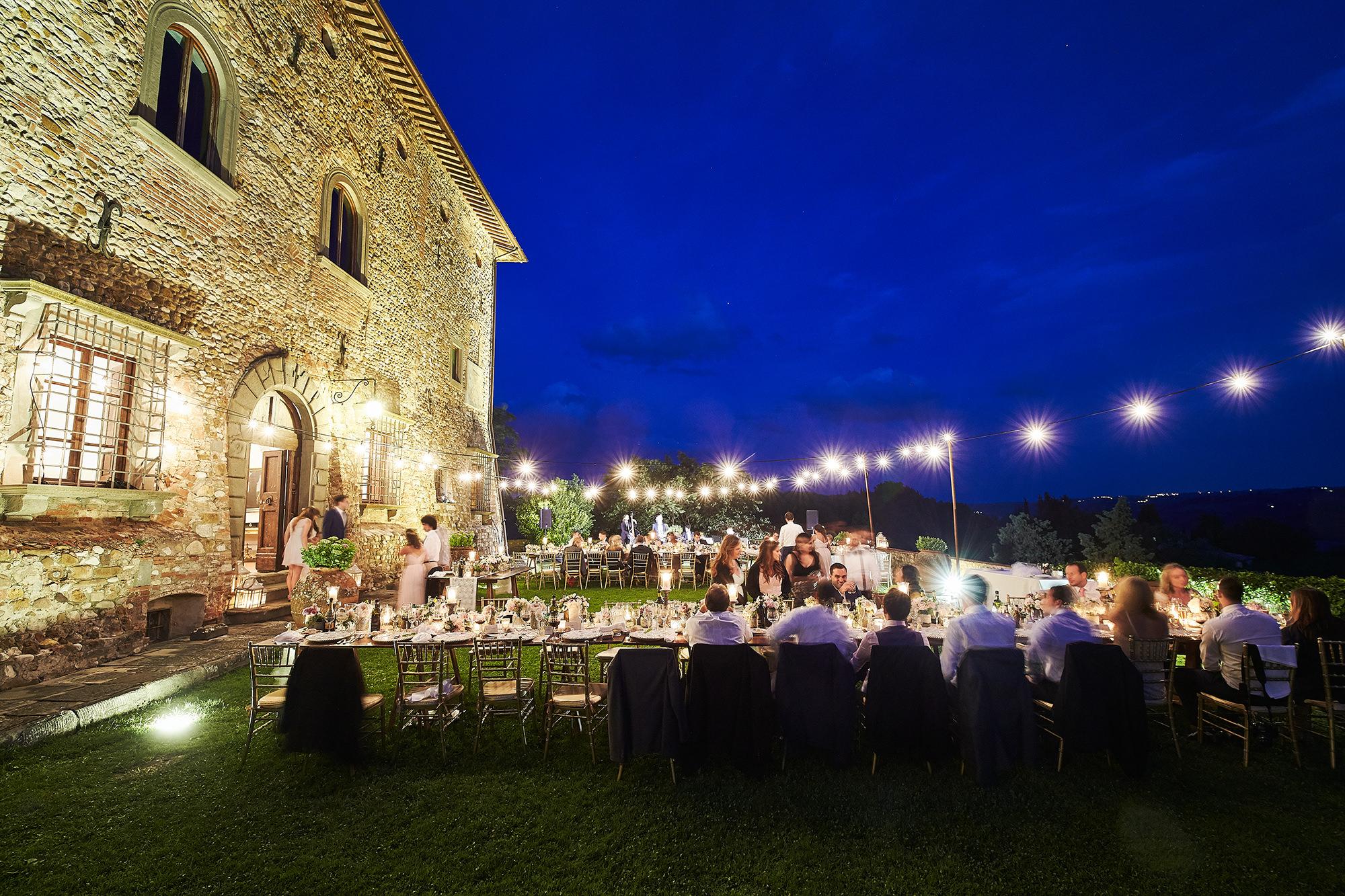 Wedding illumination with string lights
