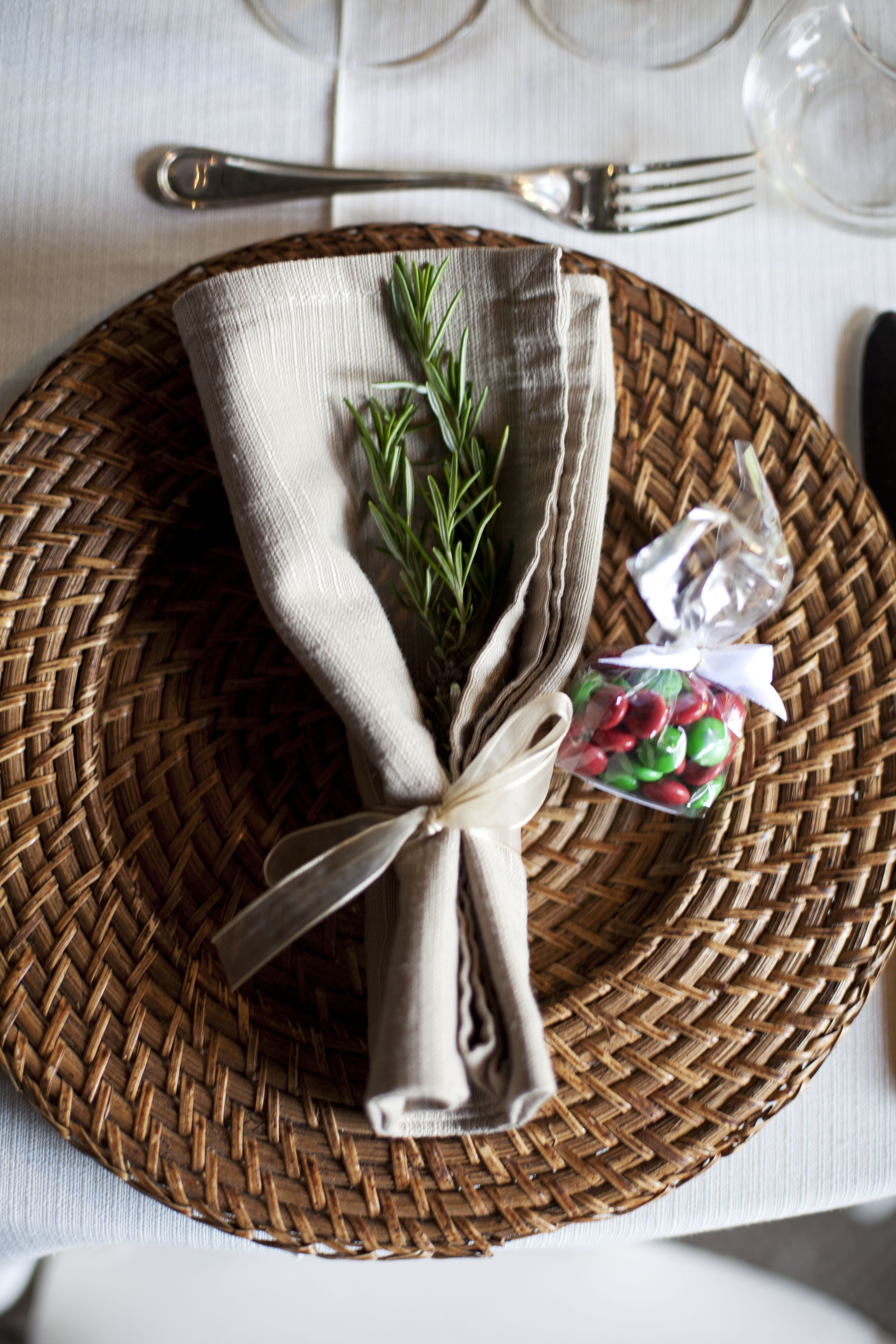 Rosemary and smarties for the guests