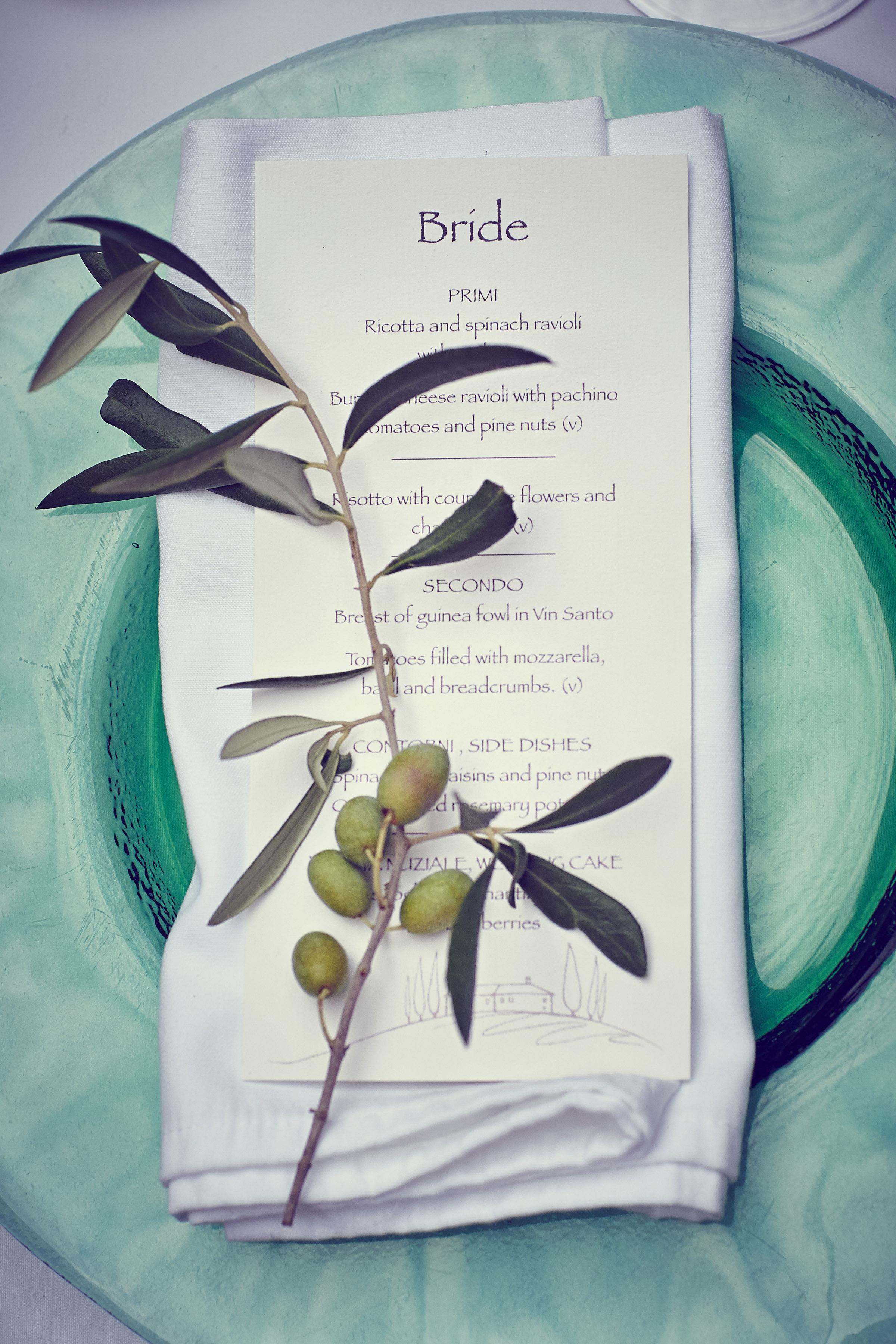 Wedding dinner plate decor