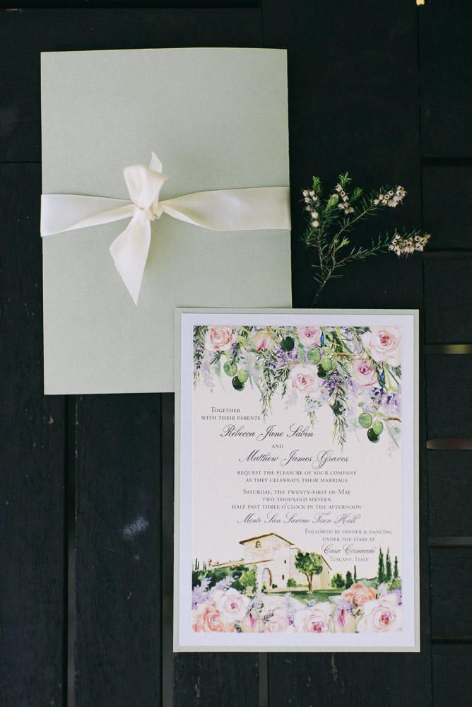 Lovely pale green stationery