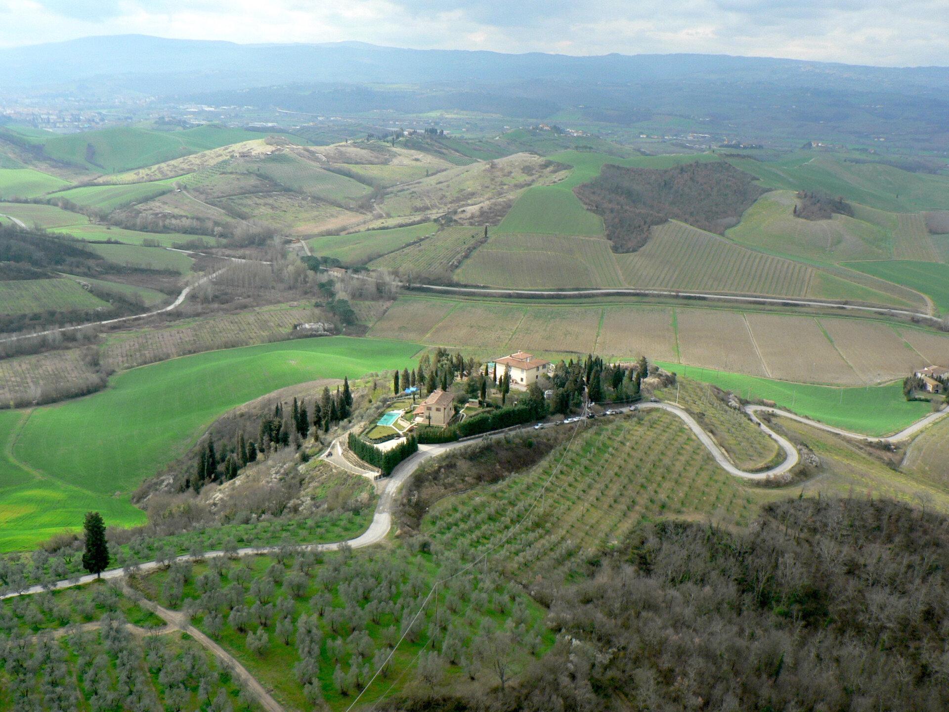 Villa in the sunny hill