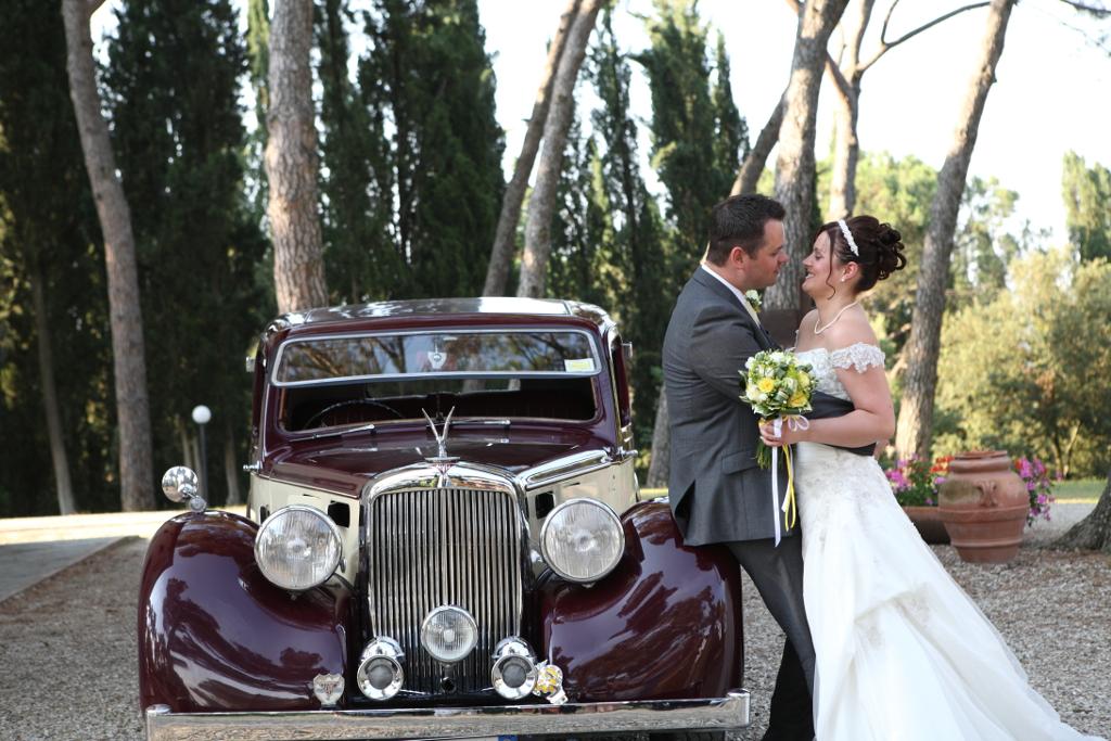 Alvis classic wedding car